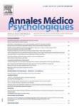 ANNALES MEDICO PSYCHOLOGIQUES, 179(6) - 2021
